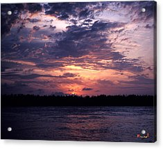 Acrylic Print featuring the photograph Sunset Off Mallory Square 14s by Gerry Gantt