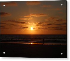 Sunset On A Beach In San Diego Ca Acrylic Print by Brittany Roth