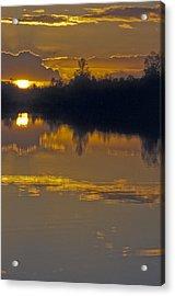 Sunset On A Lake Acrylic Print by Patrick Kessler