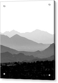 Sunset On Arizona Mountains Acrylic Print by Joe Johansson