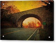 Sunset On Blue Ridge Parkway Acrylic Print by Kathy Jennings