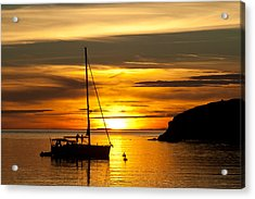 Sunset On Bowman Bay Acrylic Print by Cheryl Perin