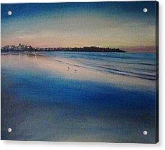 Sunset On Hampton Beach Acrylic Print by Mark Haley