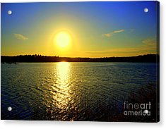 Sunset  On Horn Pond Acrylic Print