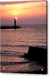 Sunset On Lake Erie Acrylic Print