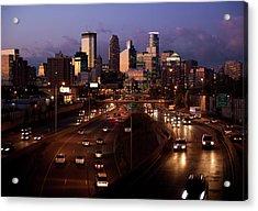 Sunset On Minneapolis Acrylic Print