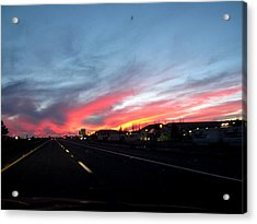 Sunset On Route 66 Acrylic Print