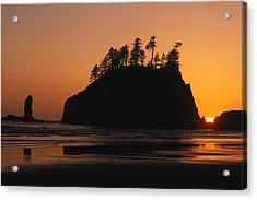 Sunset On Second Beach Acrylic Print by Phil Schermeister