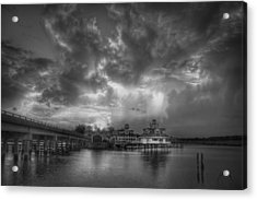 Acrylic Print featuring the photograph Sunset On Smithfield Station by Williams-Cairns Photography LLC