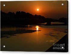 Acrylic Print featuring the photograph Sunset On The Arno River by Kathleen Pio