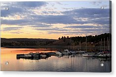 Sunset On The Lake Acrylic Print