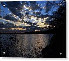 Sunset On The Lake Acrylic Print by Timothy Johnson