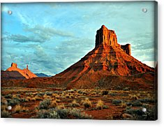 Sunset On The Mesa Acrylic Print by Marty Koch