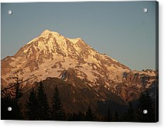 Sunset On The Mountain Acrylic Print