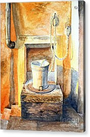 Sunset On The Old Well  Acrylic Print by Eleonora Perlic