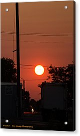 Sunset On The Up Acrylic Print by Dan Crosby