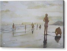 sunset on Vung Tau beach Acrylic Print by Vuong Anh Tuan