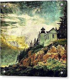 Sunset Over Bass Harbor Lighthouse Acrylic Print