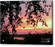 Sunset Over Canyon Lake Acrylic Print by Randi Shenkman