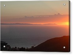 Sunset Over Catalina Acrylic Print by Russell Pierce