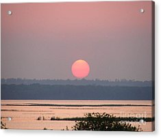 Sunset Over Cook's Bay Acrylic Print