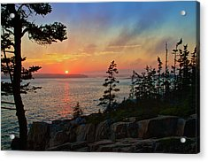 Sunset Over Frenchman's Bay Acrylic Print