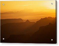 Sunset Over Grand Canyon Acrylic Print by C Thomas Willard