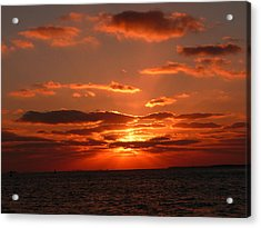 Acrylic Print featuring the photograph Sunset Over Key West by Jo Sheehan