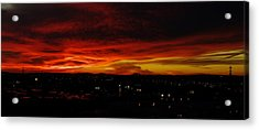 Sunset Over L.a. Acrylic Print by Mike Herdering