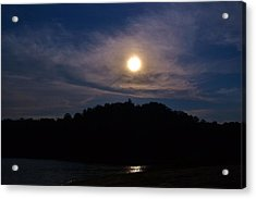 Sunset Over Lake Lanier Ga Acrylic Print by Marc Mesa