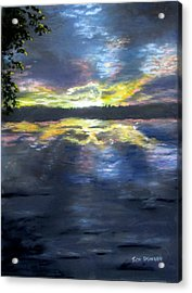 Sunset Over Mystic Lakes Acrylic Print by Jack Skinner