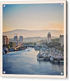 Sunset Over Pescara Acrylic Print