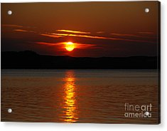 Sunset Over Silver Lake Sand Dunes Acrylic Print by Grace Grogan