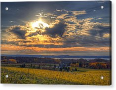 Sunset Over The Bay Acrylic Print by Twenty Two North Photography