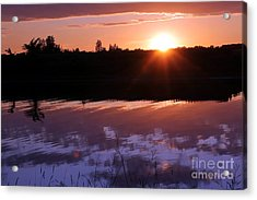 Sunset Over The Island Acrylic Print by Sophie Vigneault