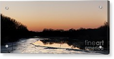 Acrylic Print featuring the photograph Sunset Over The Republican River by Art Whitton