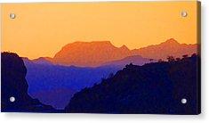 Sunset Over The Sierra Gigantes Acrylic Print by Anne Mott