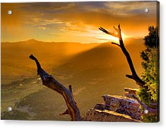Sunset Over The Valley Acrylic Print