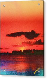 Sunset Over Three Lakes Acrylic Print