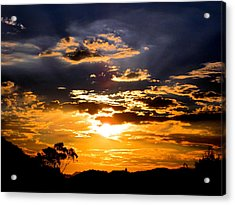 Sunset Over Topanga Acrylic Print by Catherine Natalia  Roche