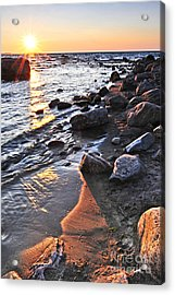 Sunset Over Water Acrylic Print by Elena Elisseeva