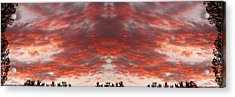 Sunset Panorama Psychedelic Trance Acrylic Print by James BO  Insogna