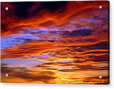 Sunset Pattern Acrylic Print by Dan Myers