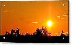 Acrylic Print featuring the photograph Sunset Picnic by Scott Holmes