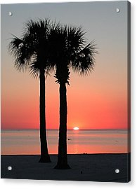 Sunset Pink Acrylic Print