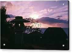 Acrylic Print featuring the photograph Sunset Pupukea Oahu by Craig Wood
