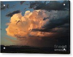 Sunset Rain Acrylic Print