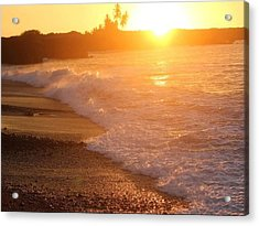 Sunset Rays Acrylic Print by Nadi Leonard