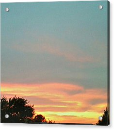 #sunset Redux #instadroid #andrography Acrylic Print by Kel Hill
