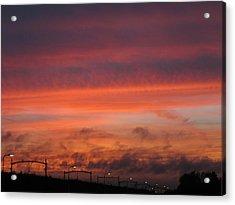 Sunset Reeshof Acrylic Print by Nop Briex